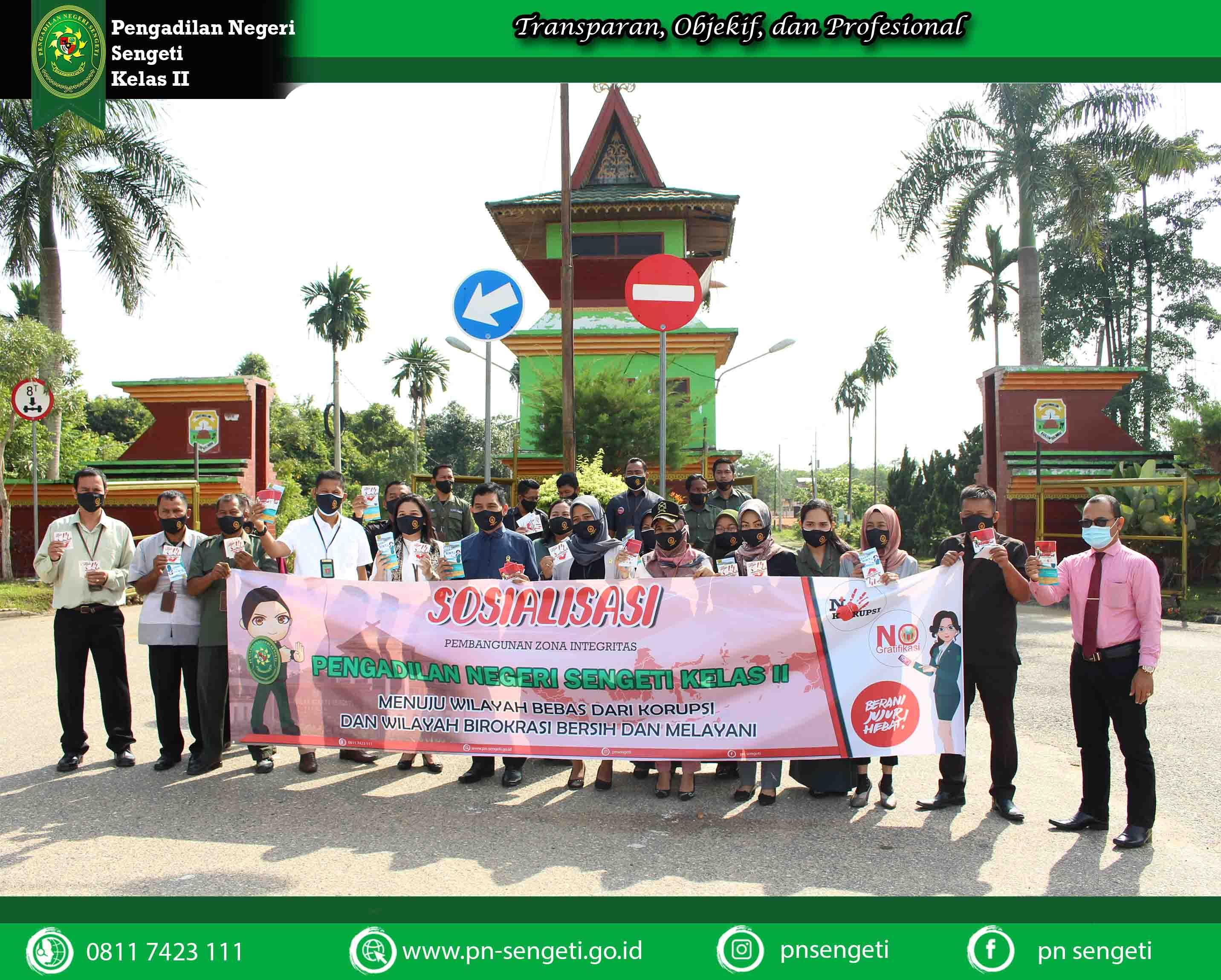 Sosialisasi Pembangunan Zona Integritas menuju Wilayah Bebas dari Korupsi (WBK) dan Wilayah Birokrasi Bersih dan Melayani (WBBM)