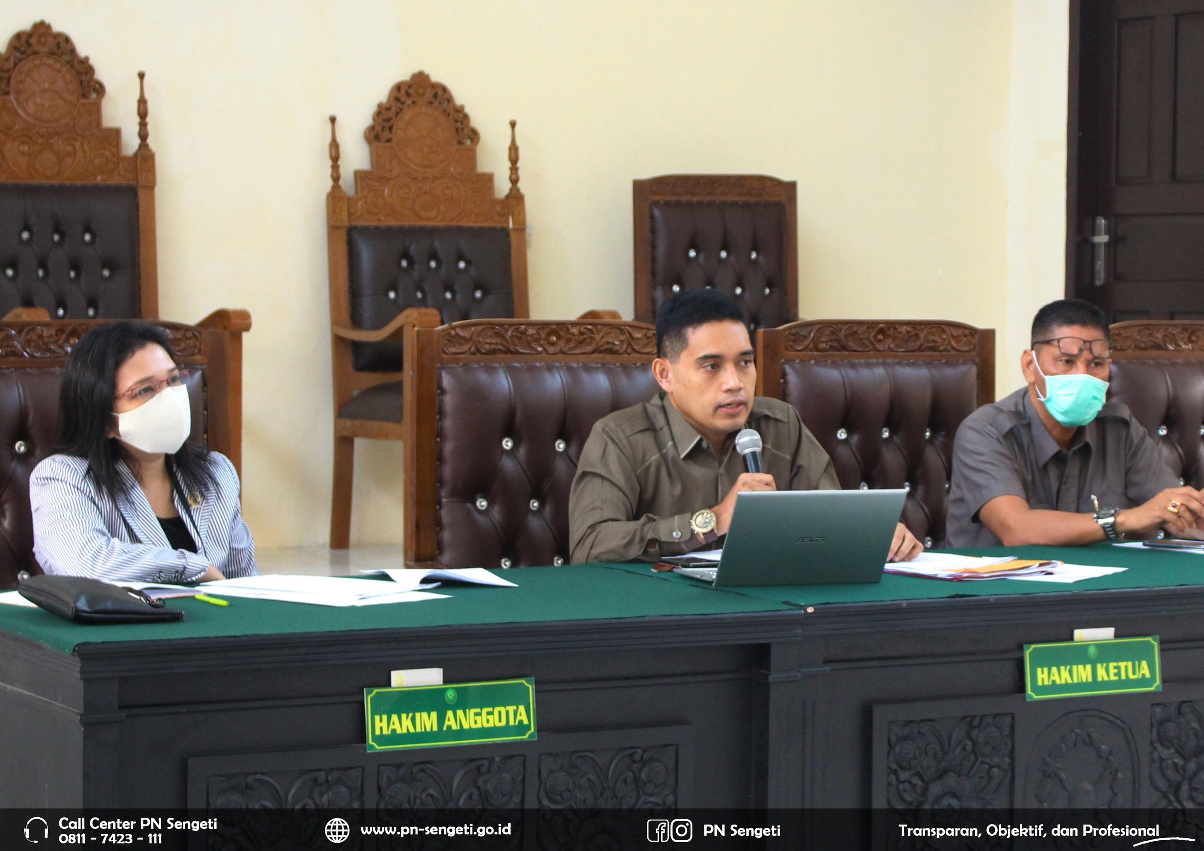 Rapat Tinjauan Manajemen Pengadilan Negeri Sengeti Kelas II