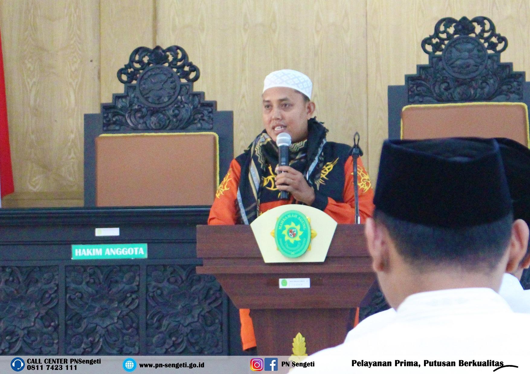 Keutamaan Ramadhan, Pengadilan Negeri Sengeti Kelas II gelar tausiyah